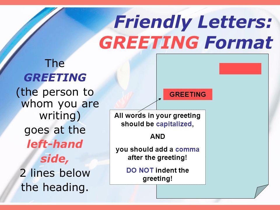 Letter Writing Friendly Letters Mrs Davis 5 Th Grade Language