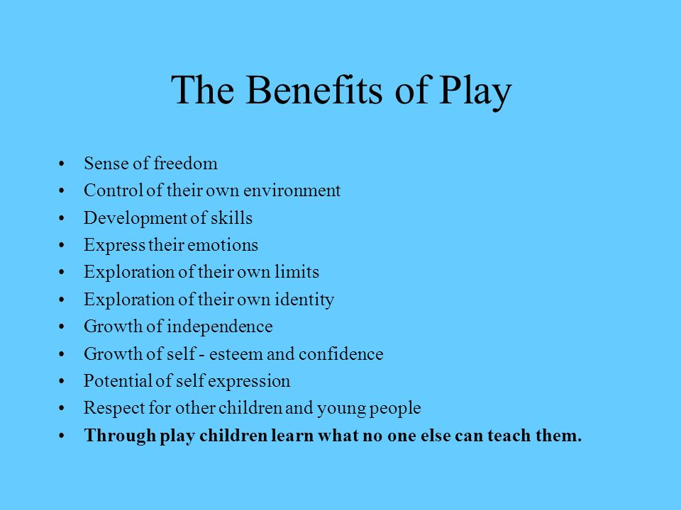 freely chosen play
