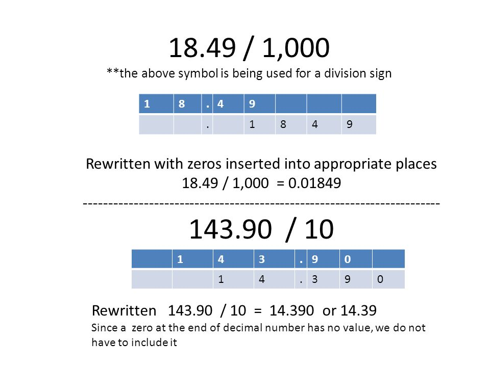 Lesson 1 When Mulitiplying Or Dividing By Powers Of Ten 10 100