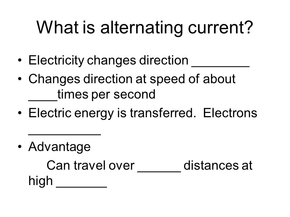 What is alternating current.