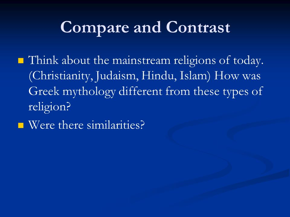 greek mythology and christianity similarities