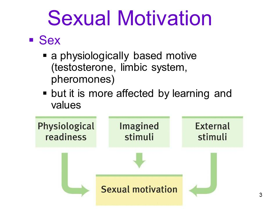 Sex as motivation