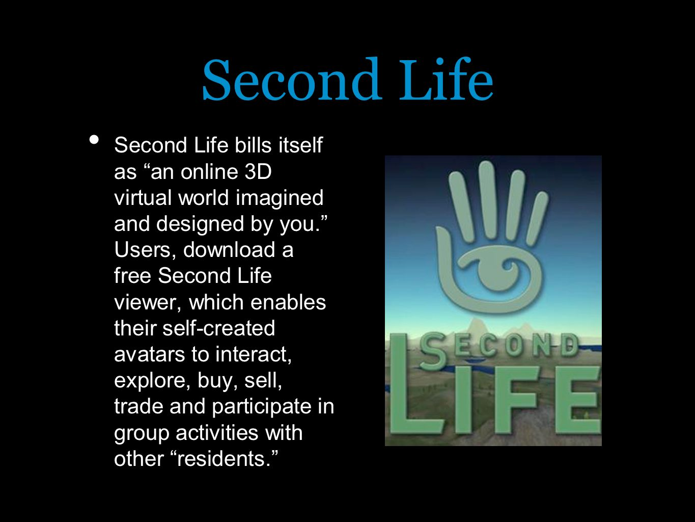 Behavior in Second Life: Redefining Fantasy in the Metaverse  - ppt