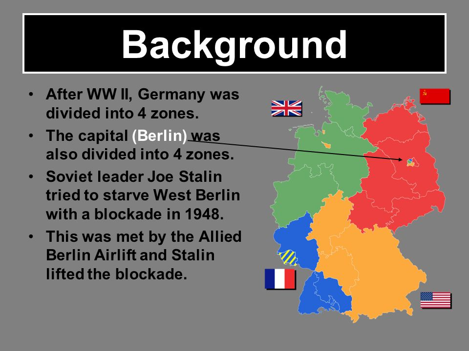 Germany Map After Ww2.Background After Ww Ii Germany Was Divided Into 4 Zones The