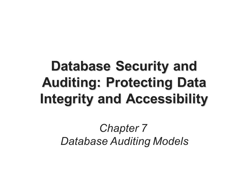 Database Security And Auditing Hassan Afyouni Pdf