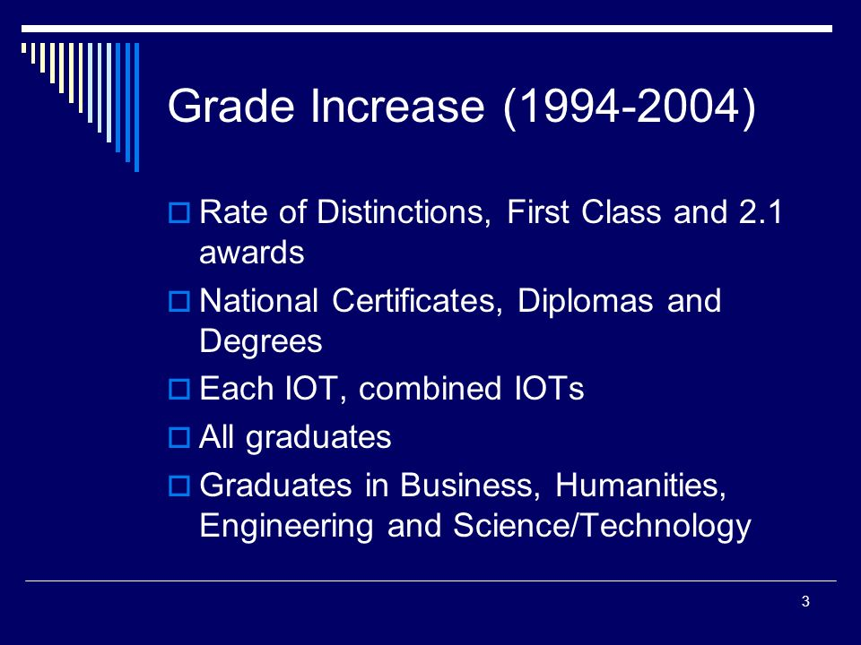 1 Grade Inflation In The Iot Sector Presentation At Limerick Institute Of Technology April By Martin O Grady Ppt Download