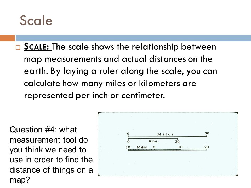 Define Map Scale on