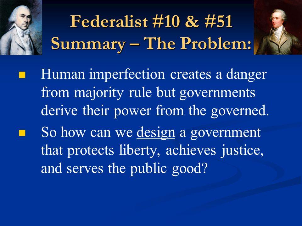 federalist paper 51 summary short