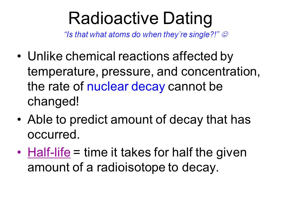 Radiometric dating pros and cons