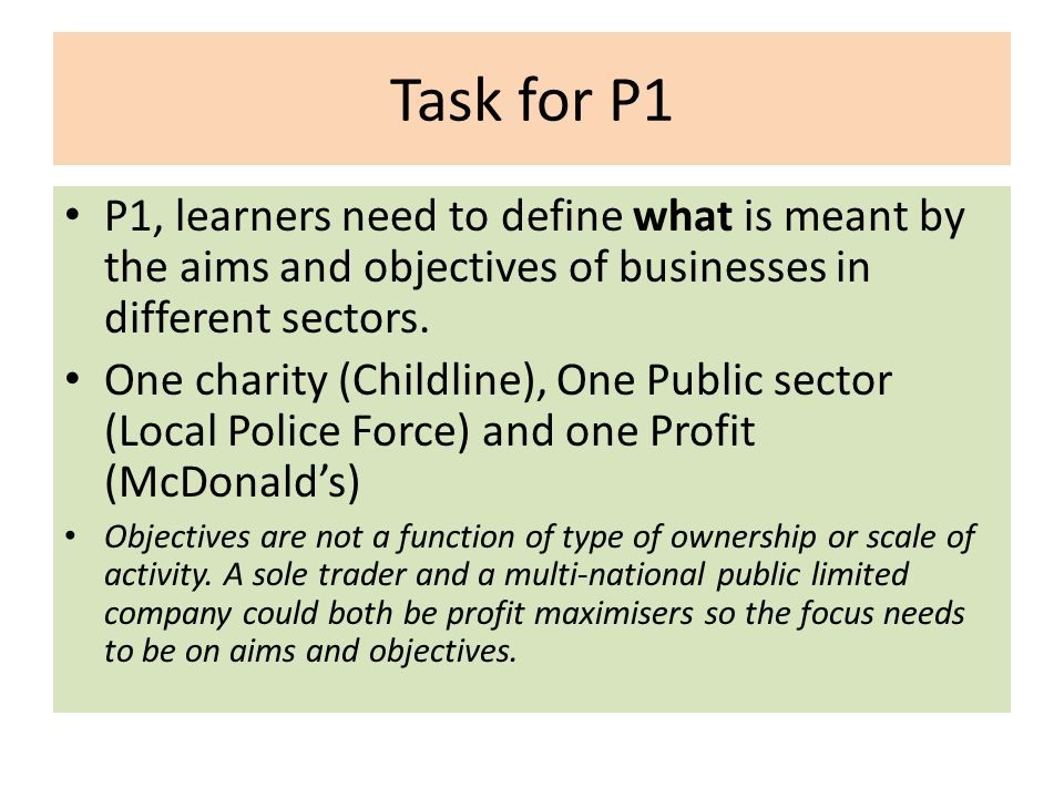 mcdonalds aims and objectives