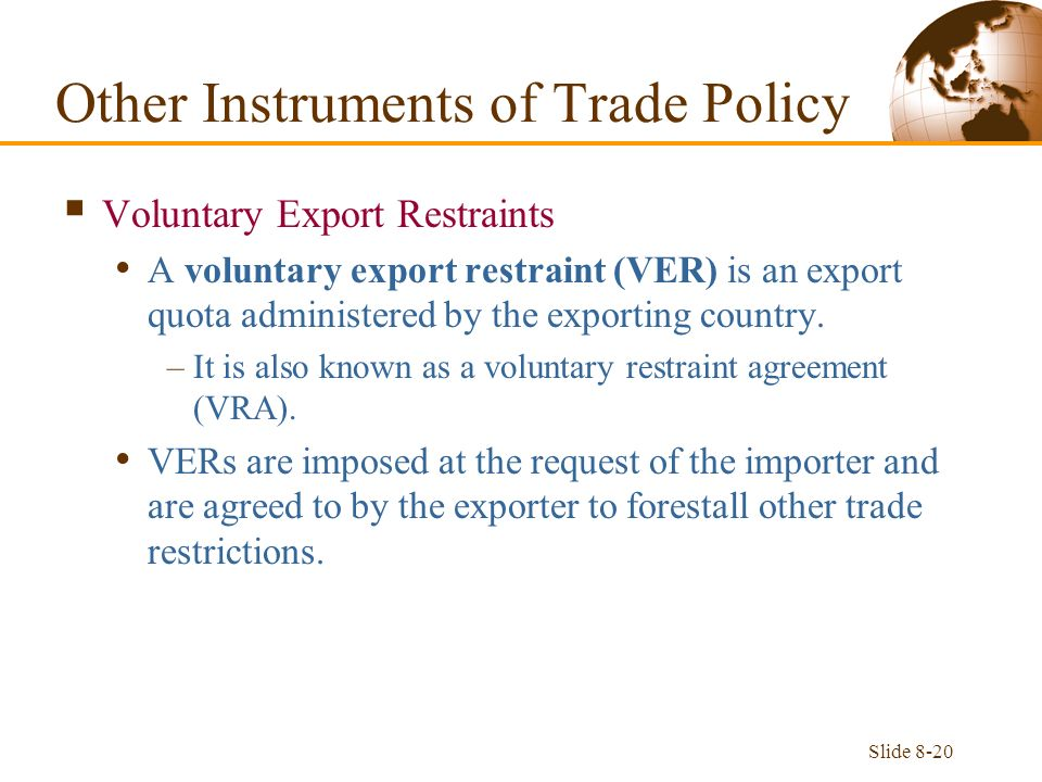 Slide 8 1 Effects Of A Tariff Assume That Two Large Countries