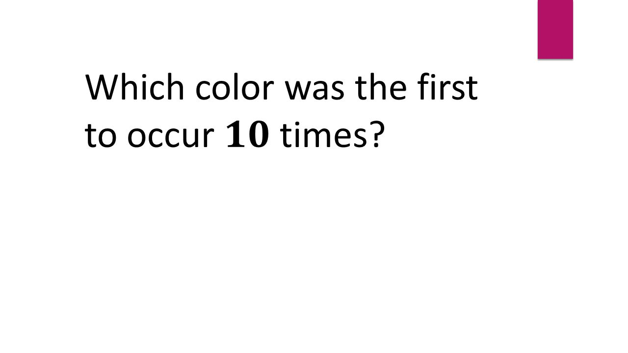 Which color was the first to occur times
