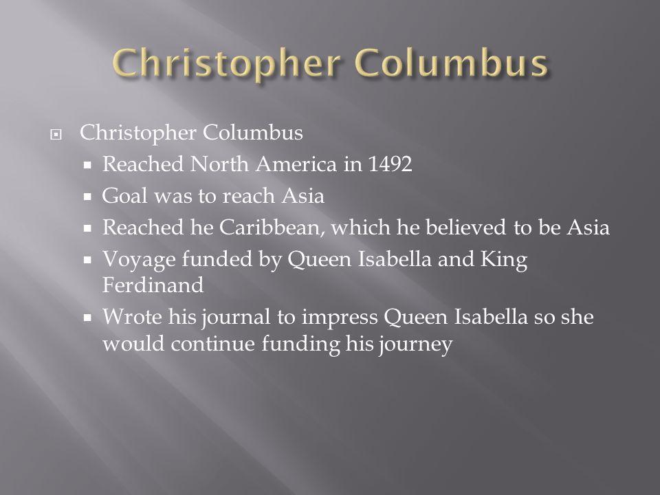 christopher columbus goals
