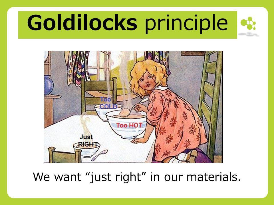 The Goldilocks Principle Meeting Needs >> Workpackage 2 Materials Adaptation 1 A Review Of Wp2 The