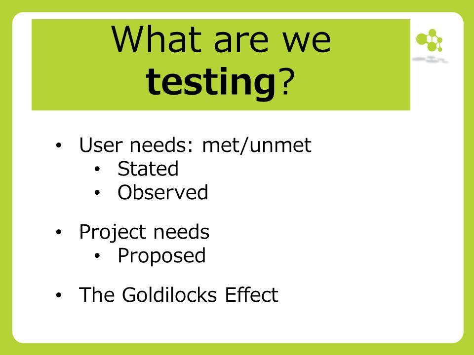 The Goldilocks Principle Meeting Needs >> Workpackage 2 Materials Adaptation 1 A Review Of Wp2 The Goldilocks