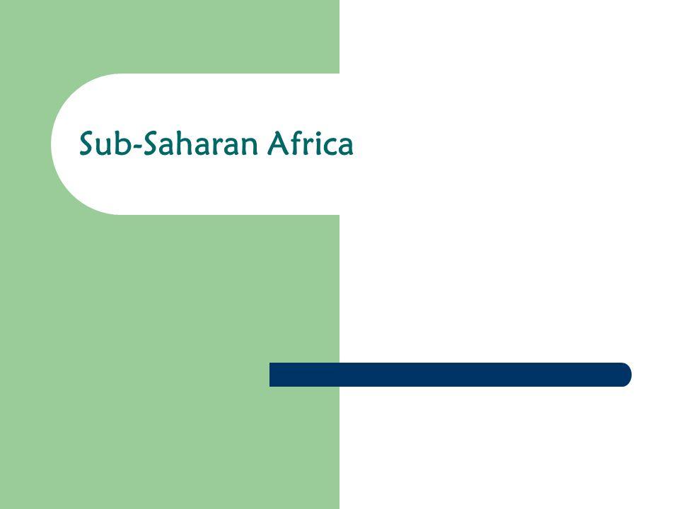 1 Sub Saharan Africa