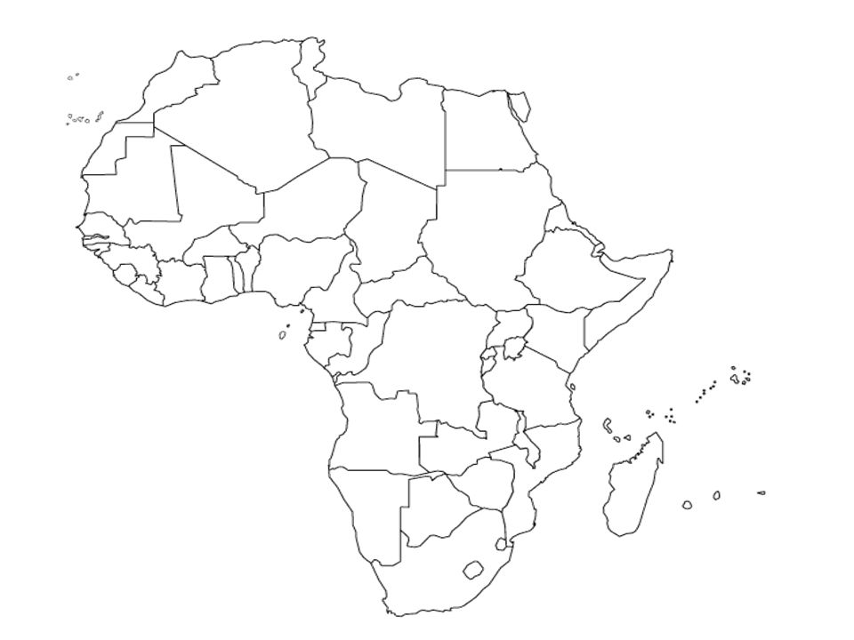 Plain Africa Map.Sub Saharan Africa Countries For Tuesday S Political Map Quiz