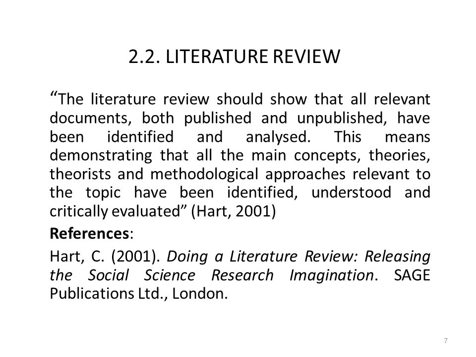 social science literature review