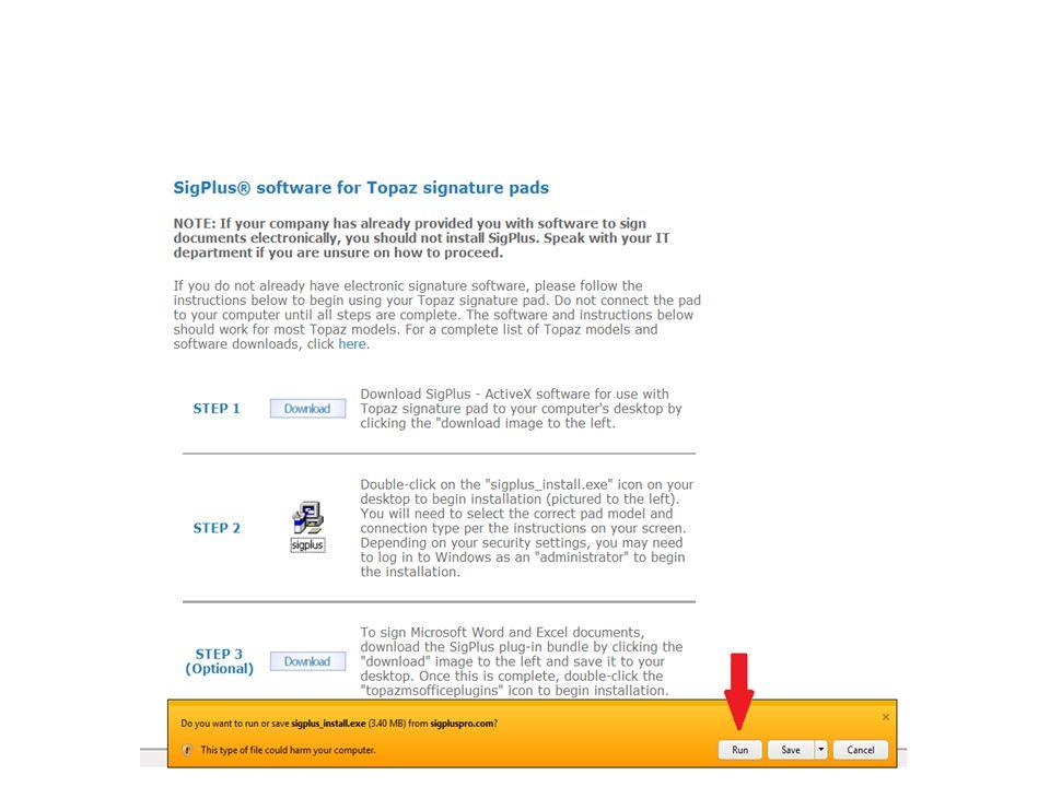 Topaz Signature Pad Demo