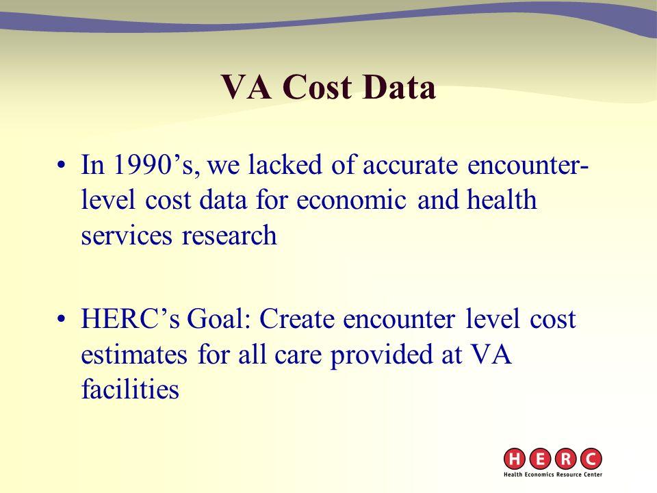 VA Economic Data Sets VI: HERC Average Cost Datasets Todd Wagner, Ph