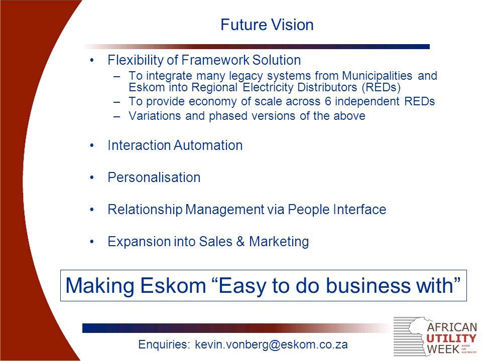 """UBUSO """"The Face of Eskom"""" A Case Study on Eskom's Customer"""
