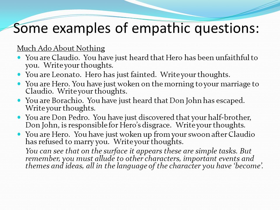 Candy empathy task creative writing gcse english marked by.