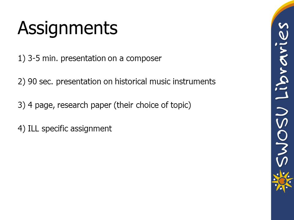 research paper types content chapter 1