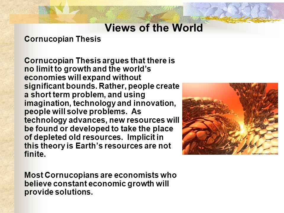 define cornucopian thesis