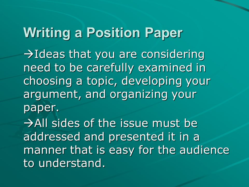 opinion paper ideas
