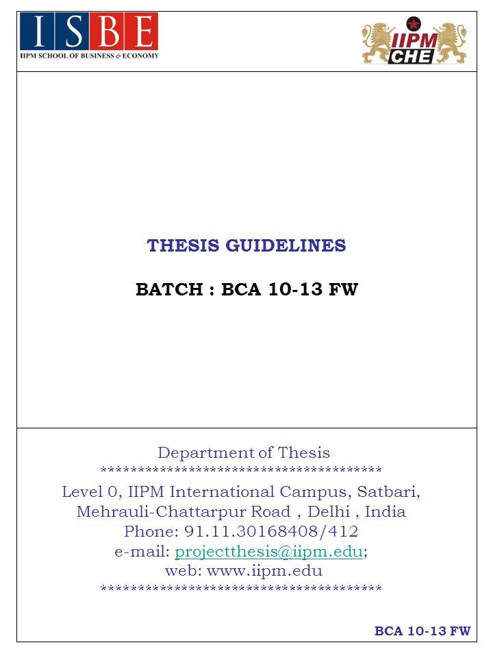 iipm thesis format