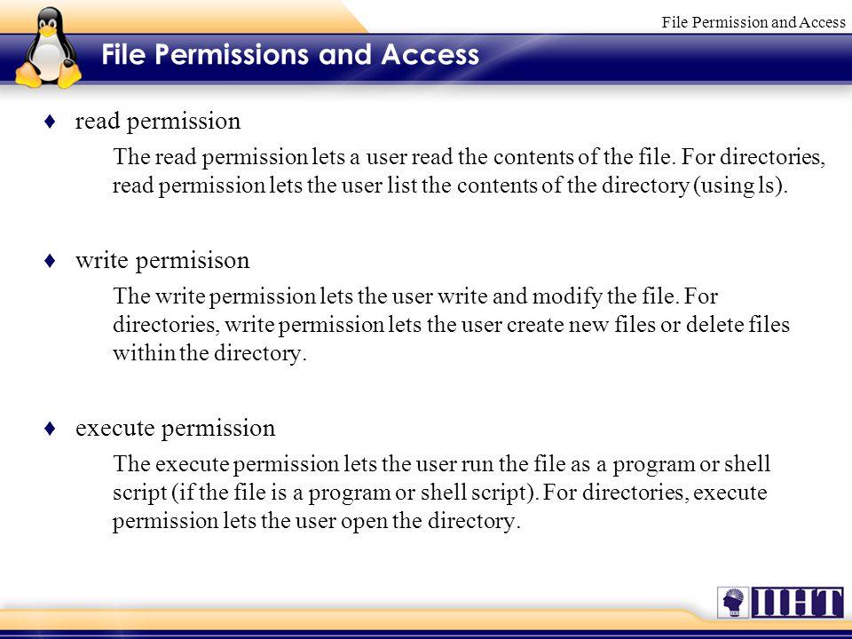 File Permission and Access  Module 6 File Permission and