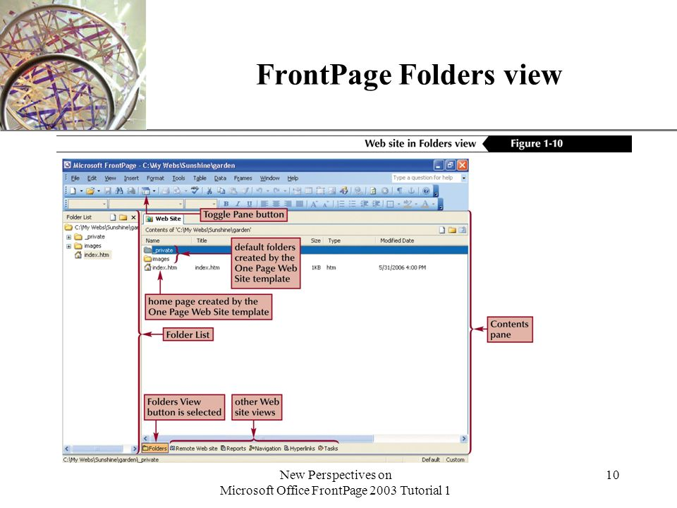 XP New Perspectives on Microsoft Office FrontPage 2003
