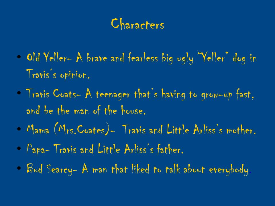 old yeller chapter summaries