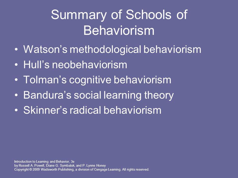 neobehaviorism tolman and bandura reflection