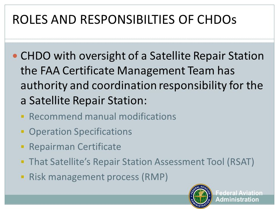 PRESENTED TO: NATA October, 2010 Overview of 145 Repair Station ...