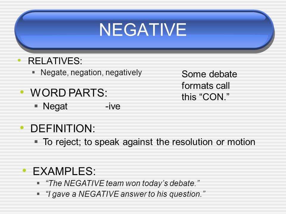 example of a debate speech- 1st speaker