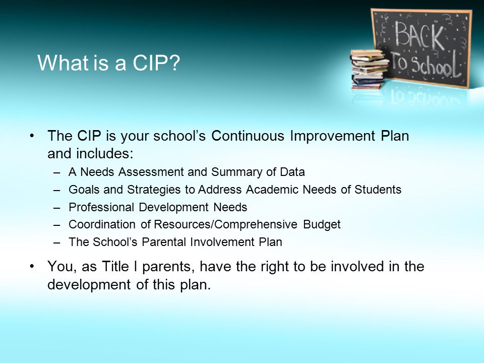 What is a CIP.