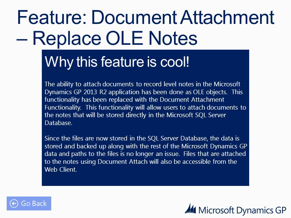 Feature: Document Attachment – Replace OLE Notes