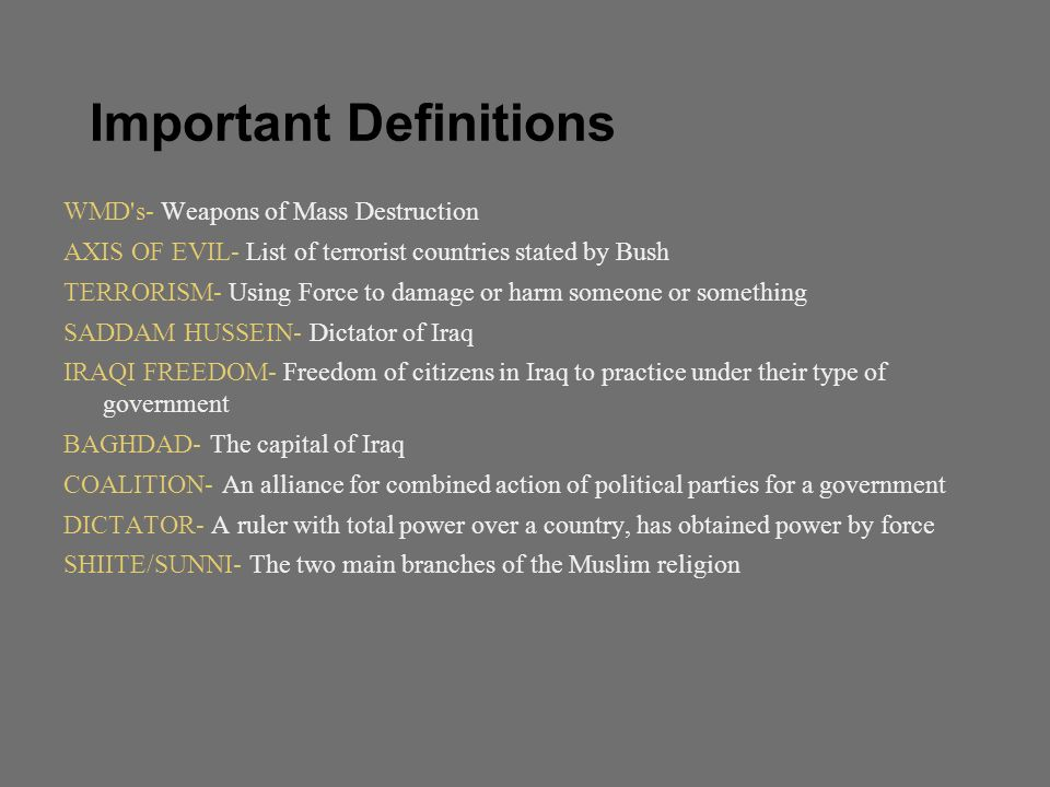 causes and effects of iraq war
