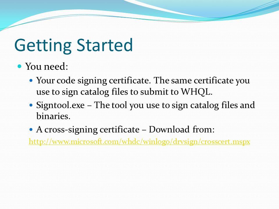 Jennifer Stepler WDK Program Manager  Agenda Catalog signing