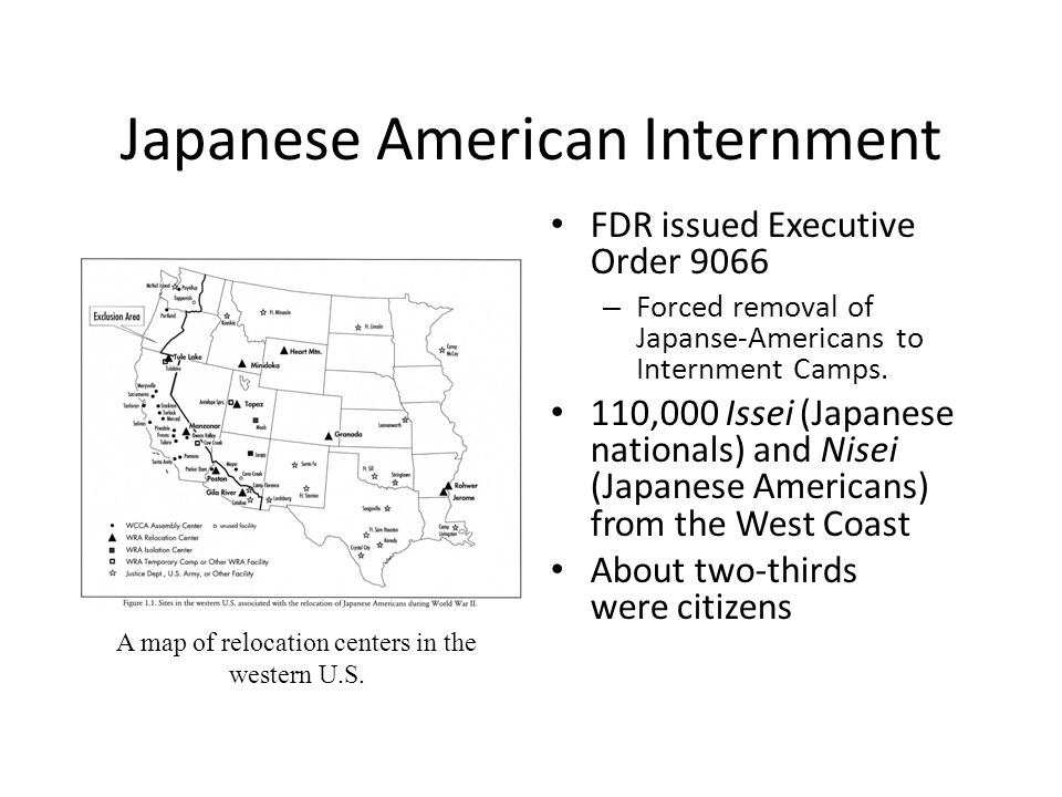 Japanese American Internment A Map Of Relocation Centers In The - Map-of-japanese-internment-camps-in-us