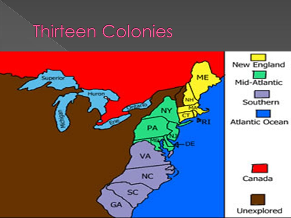 what are the thirteen original colonies