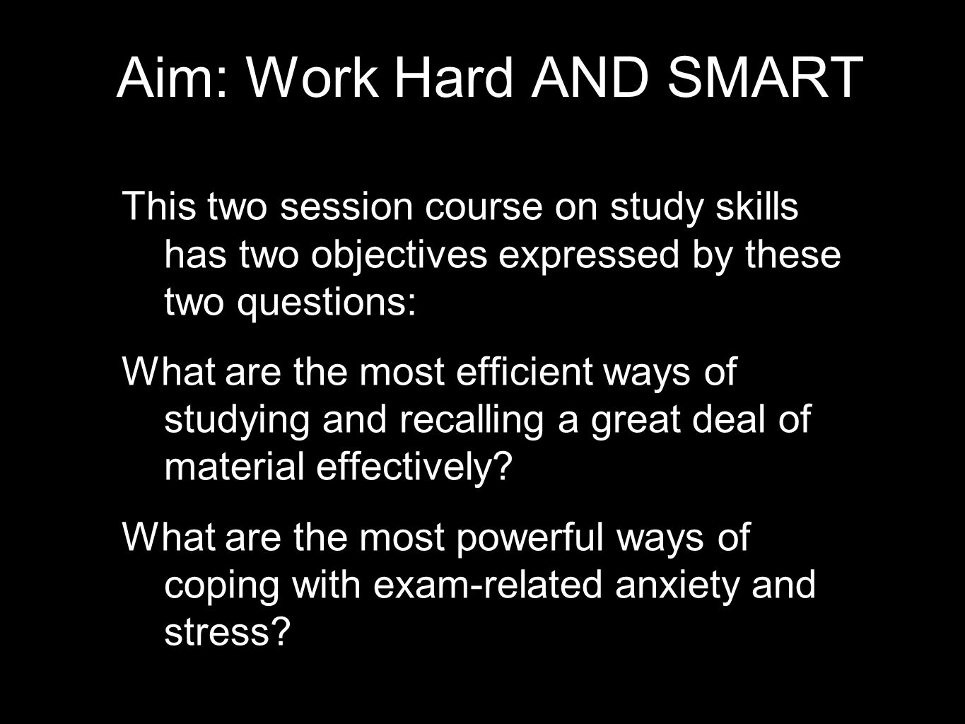 """Study Skills Or """"What I wish I'd known when I was your age"""" - ppt ..."""