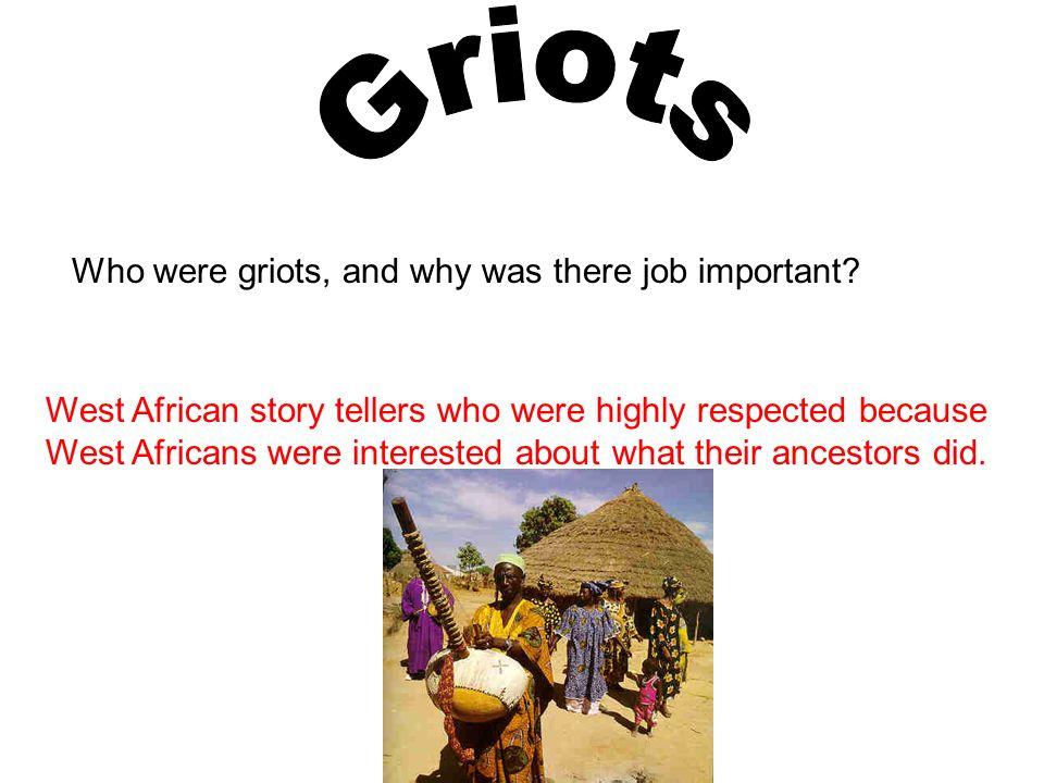 west african griot stories