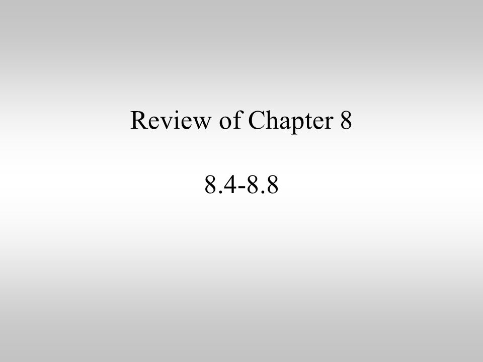 Review Of Chapter Negative And Zero Exponents If A Power Is Raised. 1 Review Of Chapter 8 8488. Worksheet. 8 2 Zero And Negative Exponents Worksheet At Clickcart.co