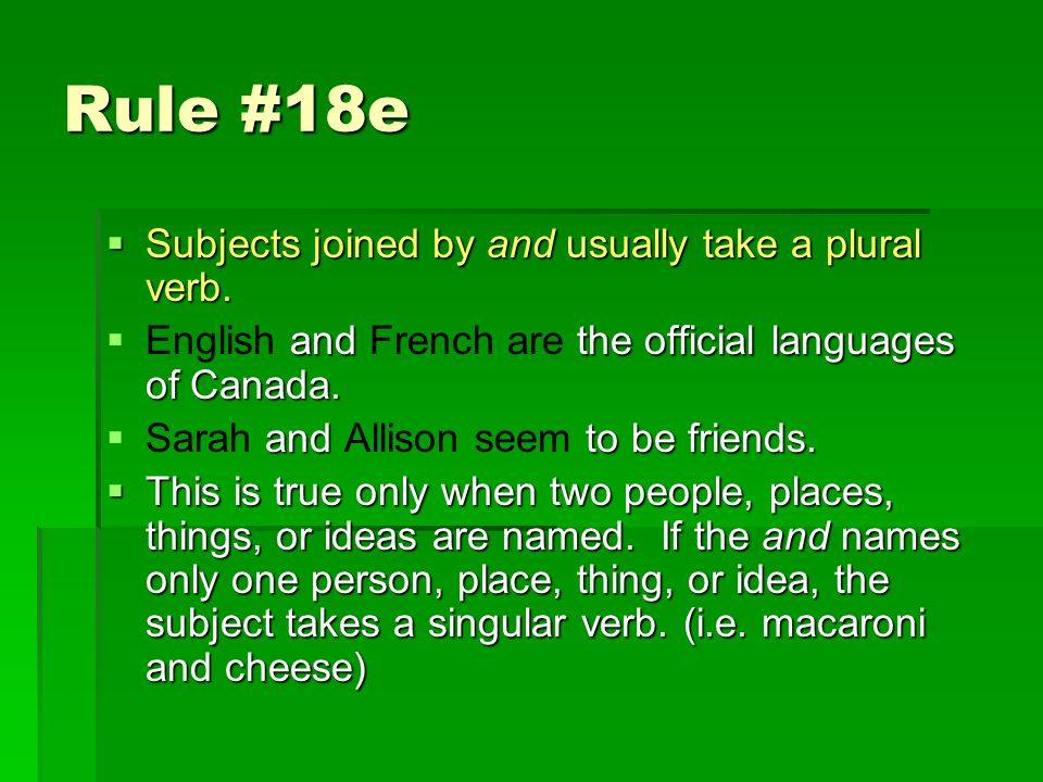 Subject Verb Agreement The Rules Rule 18a A Word That Refers To