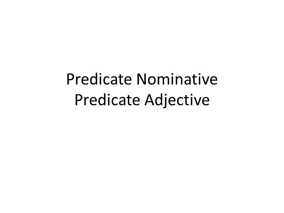 1 Predicate Nominative Adjective: Predicate Noun And Predicate Adjective Worksheet At Alzheimers-prions.com