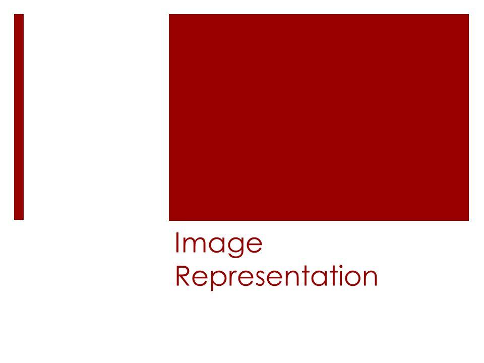 Image Representation  Objectives  Bitmaps: resolution