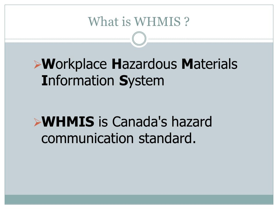 Free whmis power point presentation.