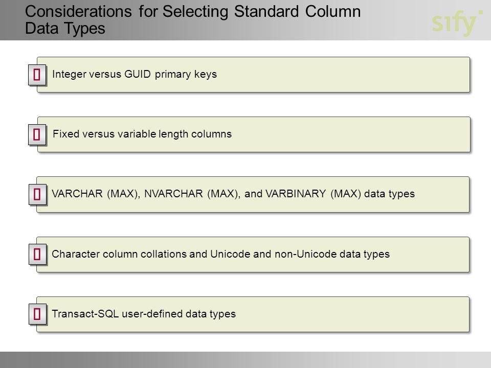Module 3 Designing a Physical Database Model  Module